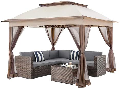 C-CHAIN 11'x11' Pop-Up Outdoor Soft Top Gazebo Canopy