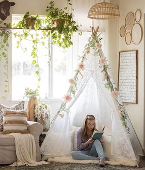 Tiny Land Huge Teepee Luxury Lace Tent