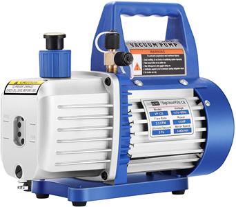 VIVOHOME 110V 1/4 HP 3.5 CFM Single-Stage Rotary Vane Air Vacuum Pump