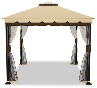 YITAHOME 10'x10' Outdoor Double Roof Canopy Gazebo