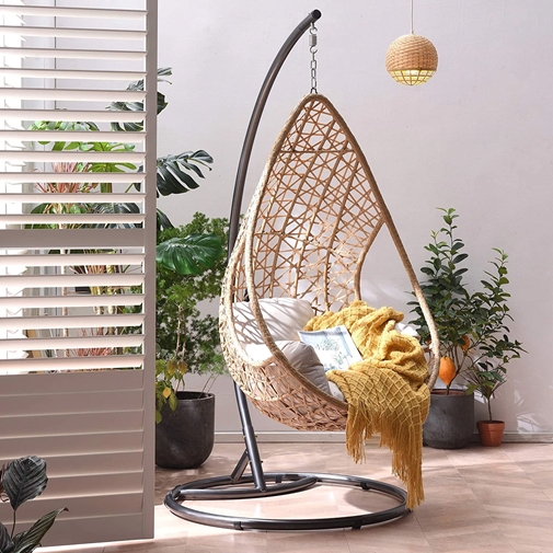 indoor egg chair with stand