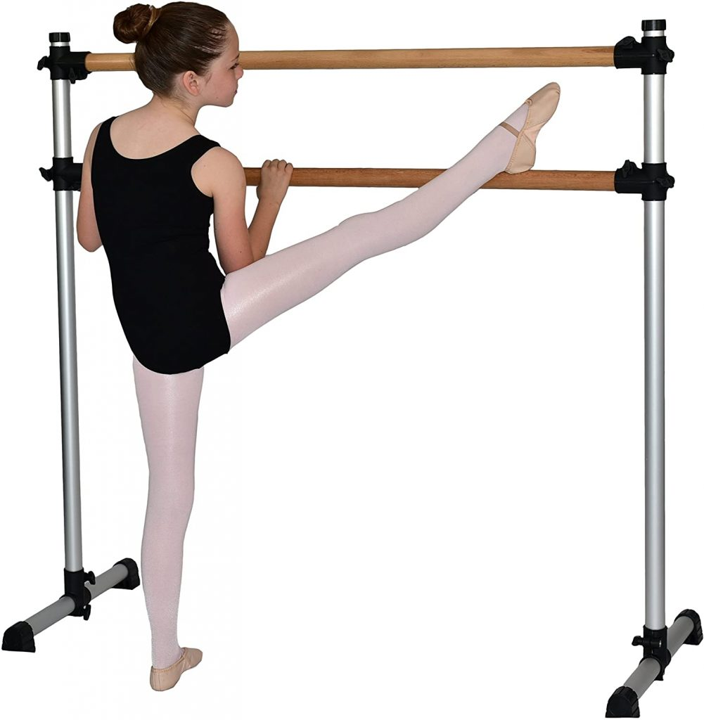 Barre Trainer 4 Foot Traditional Real Wood Freestanding Ballet Barre