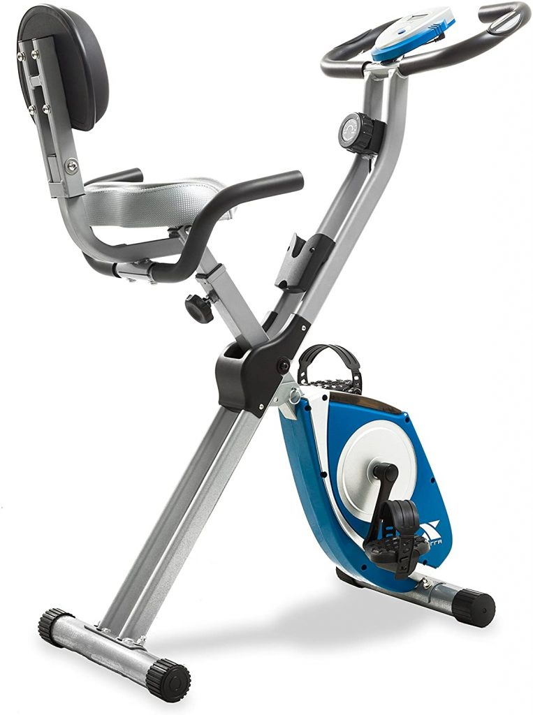 XTERRA Fitness Silver Folding FB350 Exercise Bike