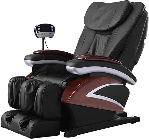 BestMassage Black Full Body Built-in Heat Electric Shiatsu Recliner Massage Chair