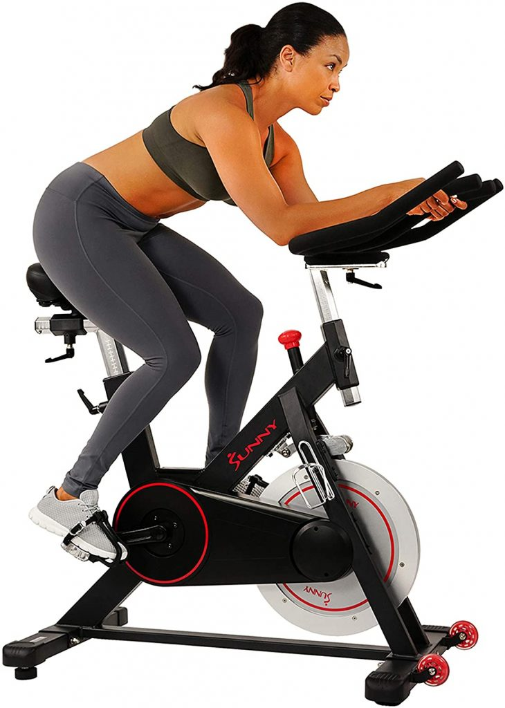 Sunny Health & Fitness SF-B1805 Magnetic Belt Resistance Indoor Spin Bike
